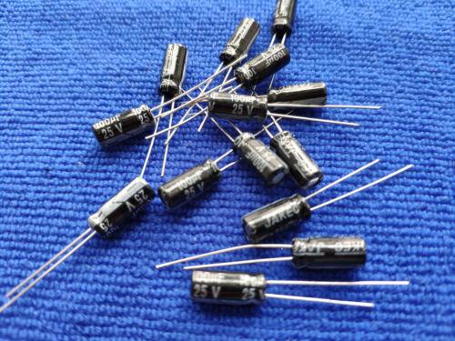 US Stock 100 pcs Electrolytic Capacitors 100uF 25V 105℃ Radial 5x12mm