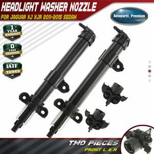 2x Headlight Washer Nozzles for Jaguar XJ 10-17 XJR 14-17 ...