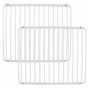 2 X Smeg Réfrigérateur étagère Blanc Couché Plastique Réglable Congélateur Rack Extensible-afficher Le Titre D'origine