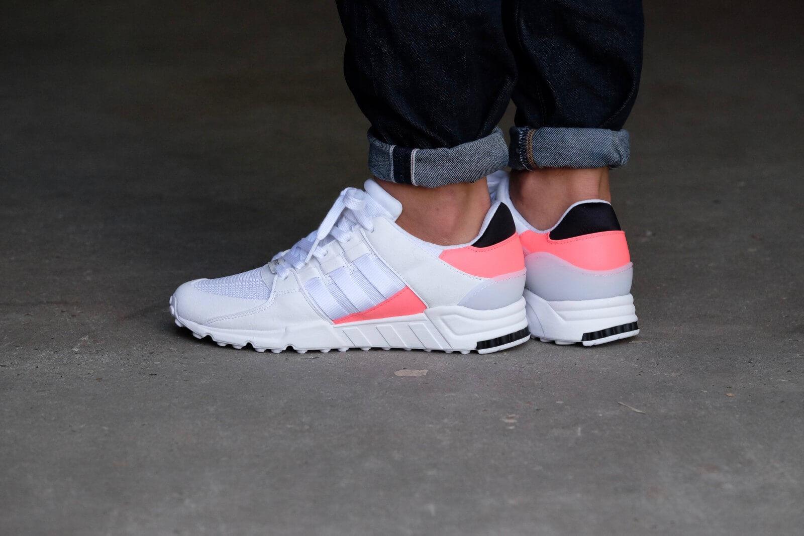 Adidas hommes Boys EQT Support RF Trainers BA7716 blanc/ rouge / noir 4.5-13.5