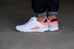 premium selection 08018 edbde Details about Adidas Mens Boys EQT Support RF Trainers BA7716  White/Pink/Black UK 3.5 to 11.5