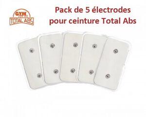 Ceinture-Total-Abs-pack-rechange-5-electrodes-Neuf