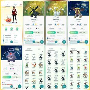 Pokemon-Account-Go-Lv-30-19-Shiny-Rare-61-Legendary-Rare-5-lv100-Rare