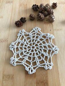"""12Pcs/Lot Vintage Hand Crochet Lace Doilies Coasters Cotton Small 4"""" Item2"""