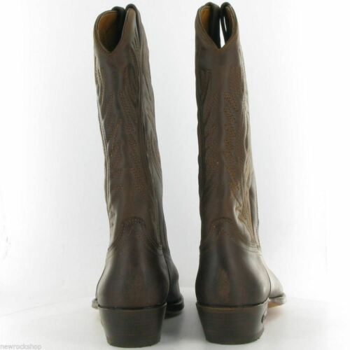 Classic 0194 Made Western Cowboy Men Leather Boots Waxy Loblan 194 Hand Brown q8w1xZnP