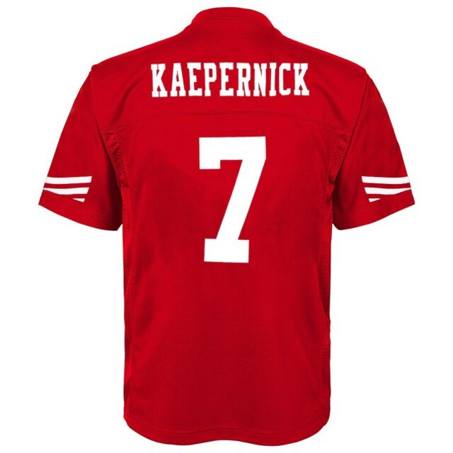 Colin Kaepernick NFL San Francisco 49ers Mid Tier Home Red Jersey Youth  (S-XL 4b29a3d57