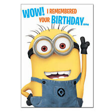 Despicable Me 2 Wow I Remembered Your Birthday Card Minion Gift Ebay