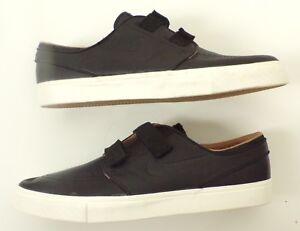 NIKE Zoom Stefan Janoski AC Black Leather Skateboarding Shoes 705405 002 Sz 11.5