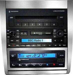 Brushed-Aluminium-Climatronic-Centre-Dash-Skin-to-fit-VW-Golf-Mk4-Bora-R32-GTI
