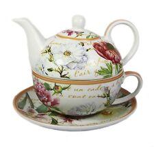 FLOWER Garden Floreale Fine Cina tè pomeridiano per un SET TEIERA TAZZA PIATTINO NUOVI