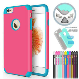 For-iPhone-7-6s-Plus-5C-SE-Hard-Hybrid-Silicone-Shockproof-Back-Case-Cover-Armor