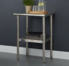 Small Stainless Steel Table Kitchen Stand Prep Appliance Display Dining Cart New