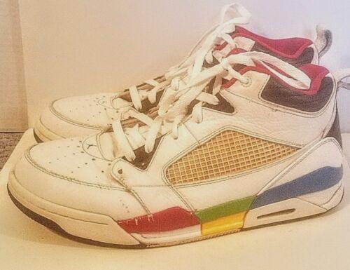 cuero rd Air 5d Nike Flight bl 108 395553 ye Jordan blanco de Zapatillas 9 10 Grn Cv1x5q16w