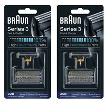 2-Packs 30B Braun Foil Cutter Shaver 4000 7000 Series 3 Syncro TriControl BEE