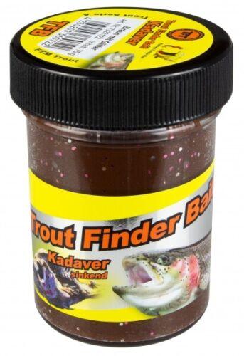 TFT FTM Trout Finder Bait Kadaver Glitter Paste 75g Braun Sinkend 7323122 Teig