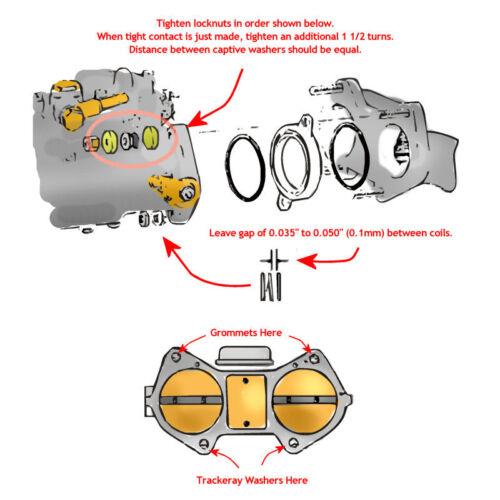 Solex 40 ADDHE anti vibration soft mount kit Weber 40 DCOE Dellorto 40 DHLA