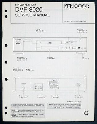 Kenwood Dvf-3020 Original CD/DVD Player Service Manual/Diagram/Parts on