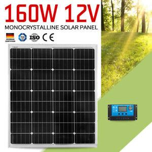 160W-Solar-Panel-Kit-Mono-Cells-Caravan-Camping-Charging-amp-20A-PWM-Regulator