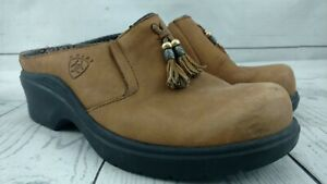 Ariat-Women-Shoes-Mendocino-93897-Tassel-Clogs-Brown-7B-Leather