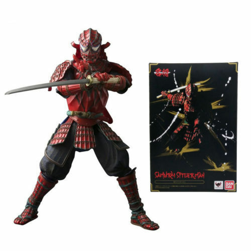 "7/"" Spider-Man Figuarts Manga Realization Bandai Samurai Action Figures Toy"