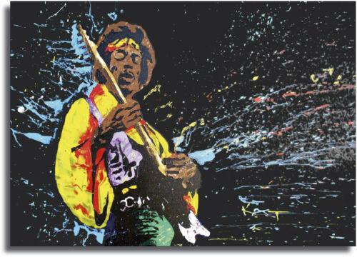 A0 A1 A2 A3 A4 Sizes Jimmy Hendrix Guitar Giant Framed CANVAS PRINT