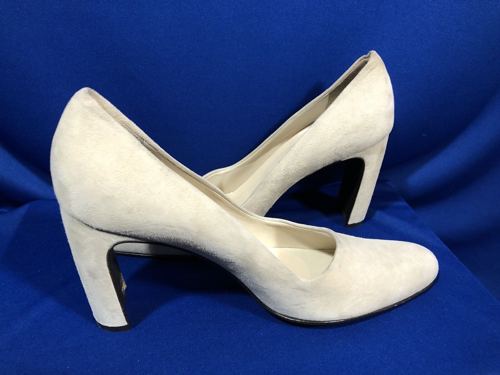 Joan & David Size 8.5 Suede Heels Heels Heels shoes Pumps Beige Made in  Thick Heel f4c665