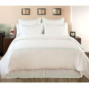 Home Decorators Collection Hotel Embroidered Duvet Cover Fl Qn No Mongrm Water Ebay