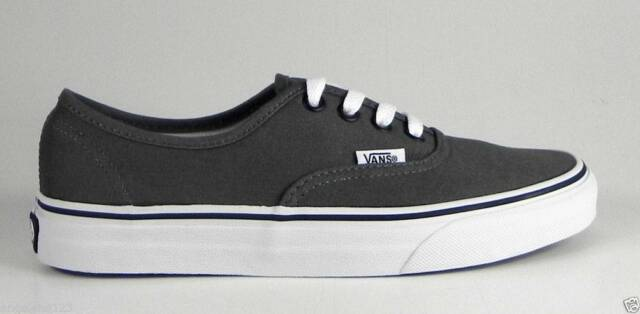 VANS Authentic Pewter Black Shoes Gray Canvas Men Sneakers Skate VN000JRAPBQ bf4d4f7d0