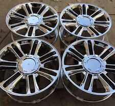 "SET FOUR 22"" PVD CHROME WHEELS RIMS FOR CADILLAC ESCALADE EXT ESV PLATINUM NEW"