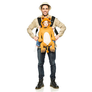 169ffb84a24 Safari Guide Lion Infant Baby Carrier Cover + Adult Hat Halloween ...