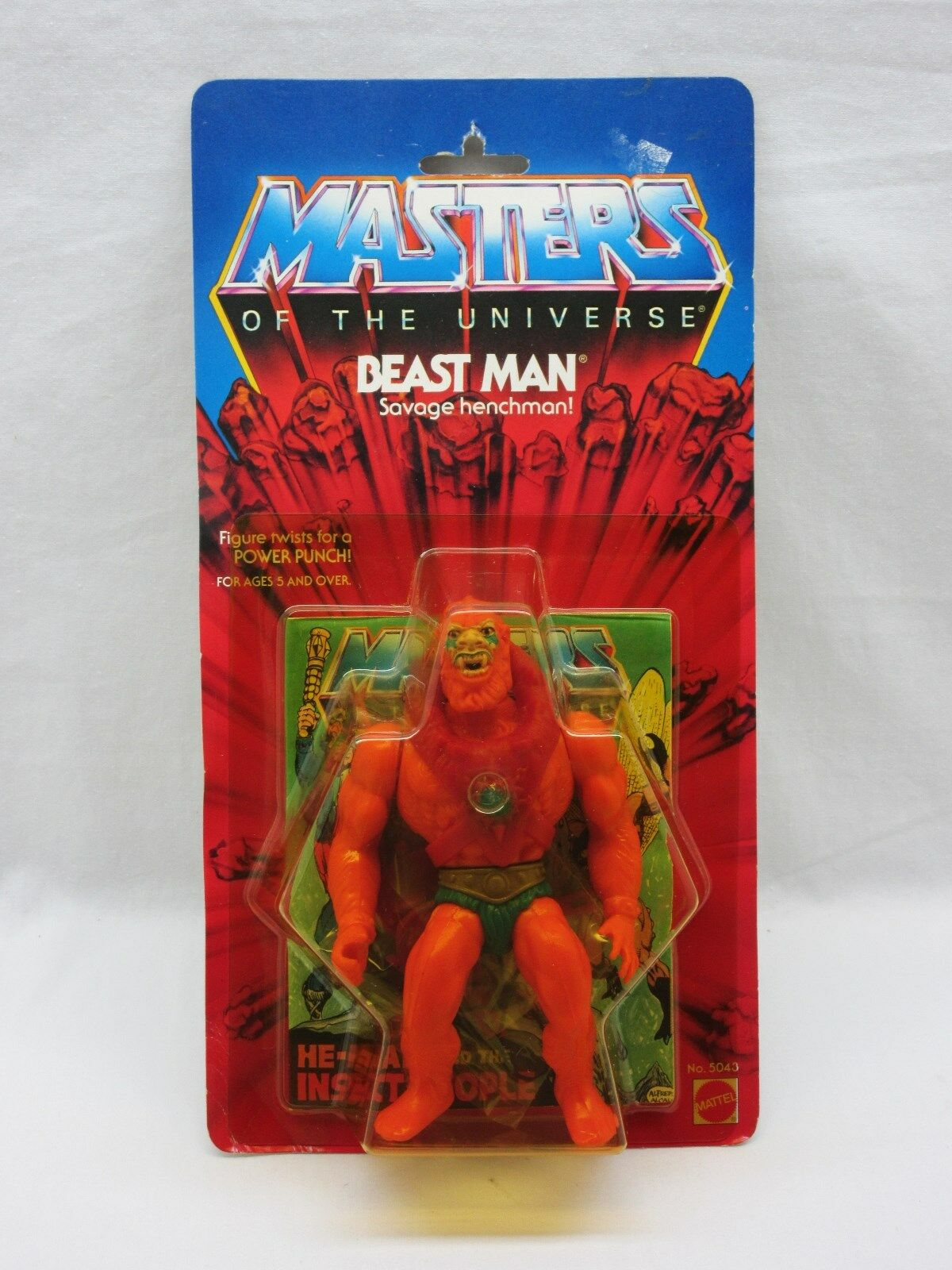 MOTU,VINTAGE,BEAST MAN,Masters of the Universe,MOC,carded,figure,He-Man