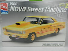 1:25 AMT 1966 Chevrolet NOVA SS STREET MACHINE PRO STOCK Plastic Model Kit *NIB*