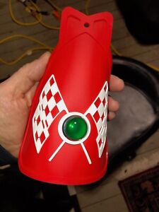 RED BICYCLE MUD FLAP WITH JEWEL FITS SCHWINN COLUMBIA HUFFY ROADMASTER