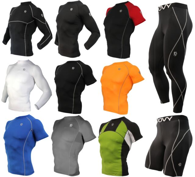 Men Compression Under Base Layer Armour, Workout, Running, Fitness, Basketball