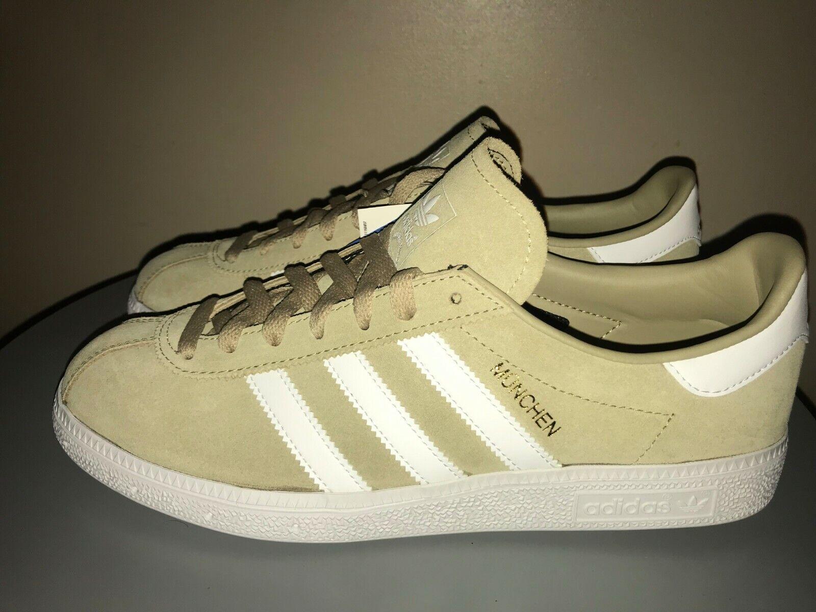 e5ceafc6ff137 Adidas Men s retro MUNCHEN Trainers Sneakers New Khaki USA 8.5 ...