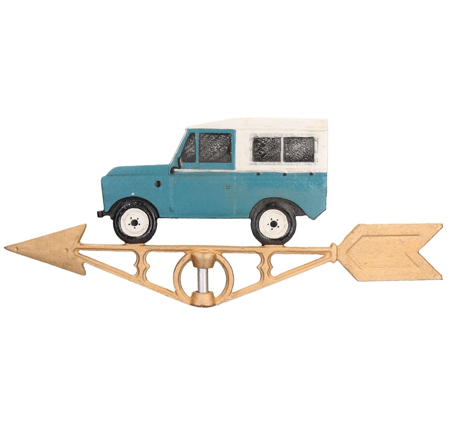 Landrover Defender Weather Vane Vain Wall Mount Gold House Roof Cast Iron