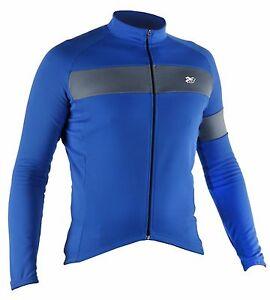633223e364a2b5 Caricamento dell'immagine in corso Maglia-manica-lunga-ciclismo -giacca-leggera-azzurro-abbigliamento-