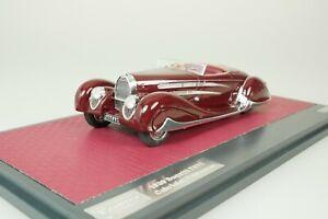 Bugatti T57C Cabriolet Vanvooren 1939 Rosso #078-408 1/43 matrix MX50205-033