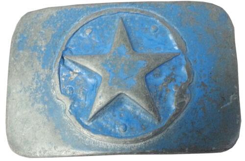 Gürtelschnalle Florida Star blau vintage Stern