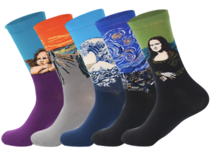 Mens-Crew-Socks-Hipster-5-Pack-Sock-Set-Novelty-Colourful-Happy-Funky-Cool