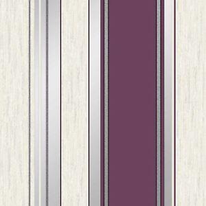 Sinergia-Papel-pintado-rayas-con-Purpurina-Ciruela-Vymura-M0800