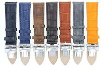 17,18,19,20,20,21,22,23,24mm Leather Band Strap Clasp For Stuhrling Watch 2b