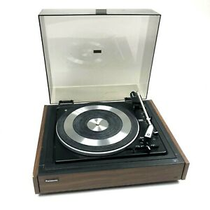 Vintage-Panasonic-SL-507-Automatic-Turntable-Woodgrain-No-Cartridge