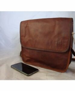 Men-039-s-Genuine-Vintage-Brown-Leather-Messenger-Shoulder-case-bag-Briefcase-NEW