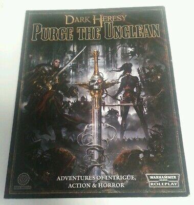 Franco Libro-rpg Games Workshop Warhammer 40,000 Dark Heresy Rimuovere Gli Impuri Rpg-mostra Il Titolo Originale