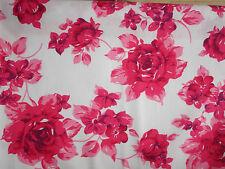 Stoff Baumwolle ♥ Rosen Röschen rot/rosa Baumwollstoff
