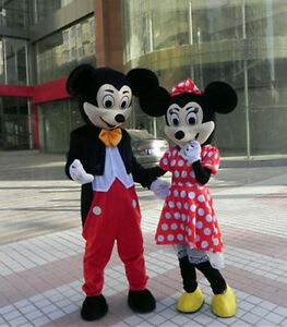 Mickey and Minnie Mouse Mascot Costume Fancy Dress PRESENT