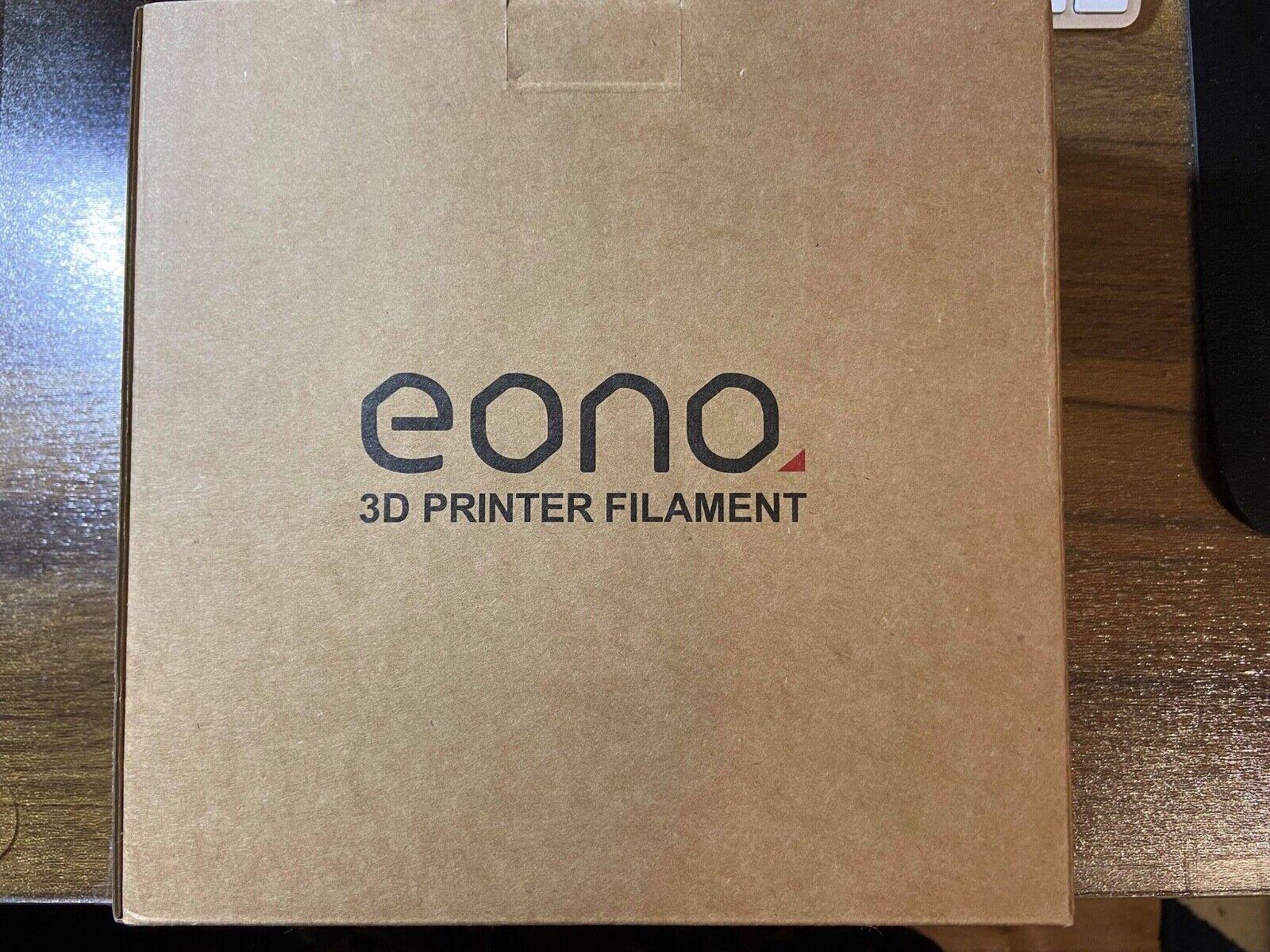 Eono PETG Black Tangle Free 3D Printing Filament, 1KG 1.75mm ,New boxed.