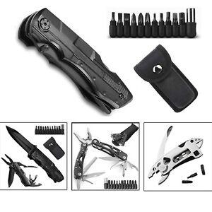 Multi Tool Folding Knife Outdoor Survival Kit Pocket Pliers Saw EDC Multitool