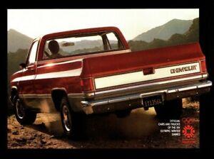 1984-Chevy-Completo-Talla-Camioneta-Camion-Folleto-Folleto-4WD-4x4-C-10-K-20